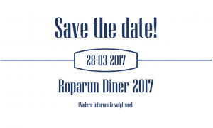 Teaser Roparun Diner Save the date