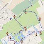 2,5 km inclusief route vanaf het clubhuis
